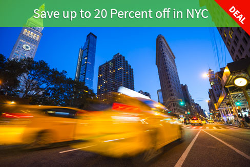 Save up to 20 Percent off in NYC